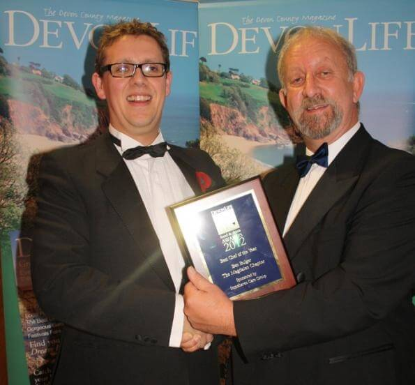 Stonehaven present Best Chef Award at Devon Life Food & Drink Awards 2012