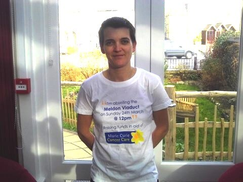 Kent House Carer Lynne Ware Abseils for Charity