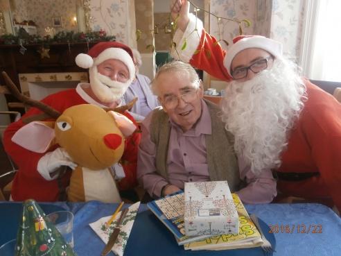 Santa visits Dove Tree House!