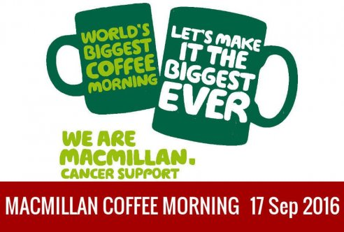 Macmillan's Biggest Coffee Morning at Chollacott House