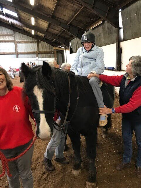 Heather's wish to ride a horse, comes true at The Manor !