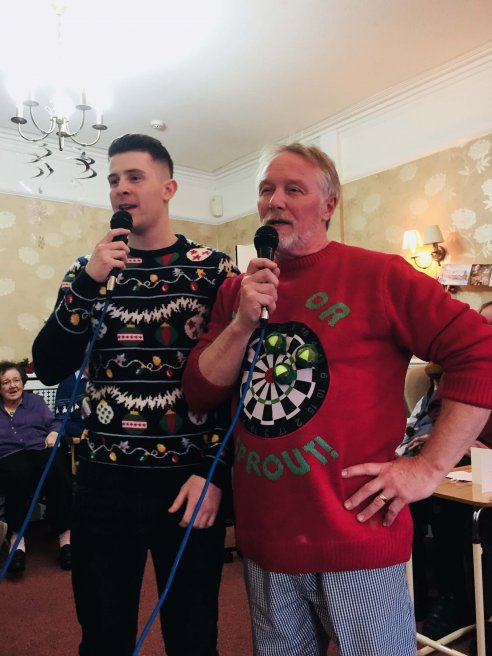 Singing Chefs at the Dove Tree Christmas party