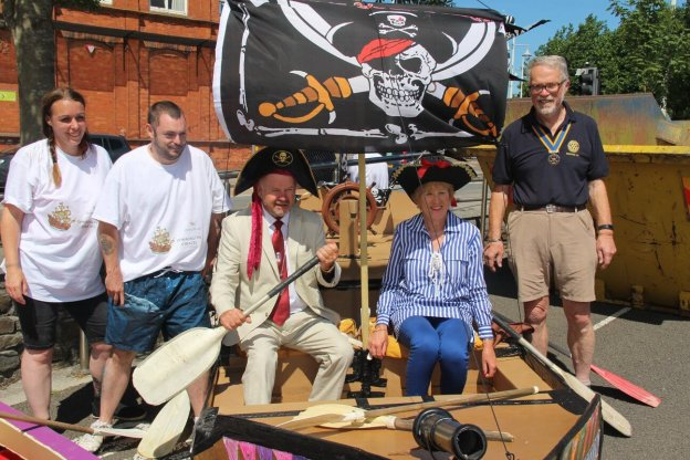 Cardboard Boat Race! Westward Ho!